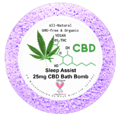 Sleep Assist CBD Hemp Oil Aromatherapy Bath Bomb - 25mg